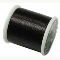 KO thread Waxed coated Japanese Thread Black for jewellery making and beadwork